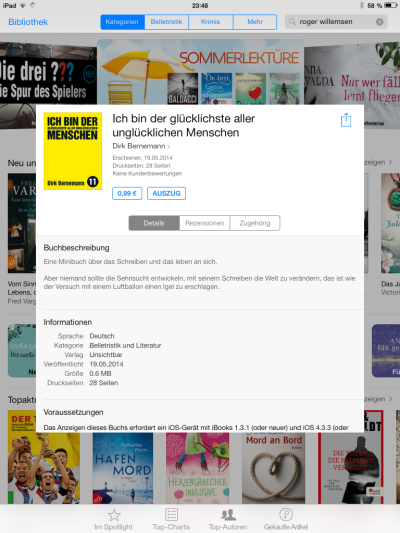 Screenshot: iPad Mini / iOS, Klick für größere Ansicht