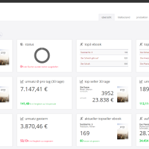 meine.readbox, hier: Dashboard